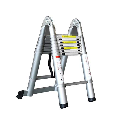 Jian E-huishoudladder upgrade alle aluminium verdikking heffen multifunctionele ladder techniek, belasting 150 kg, kan 160 cm tot 560 cm worden verlengd
