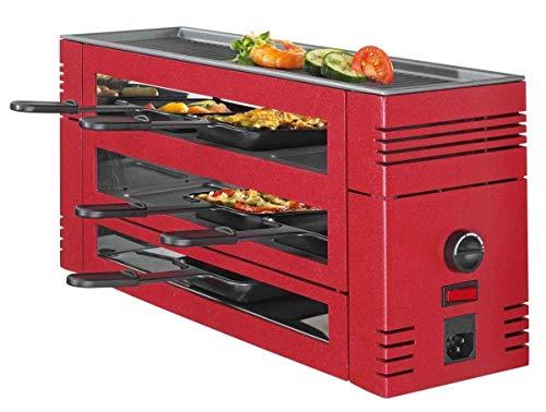 Spring - Pizza Raclette 6 - Rot Grillplatte für Ihren Tisch, 6 Personen