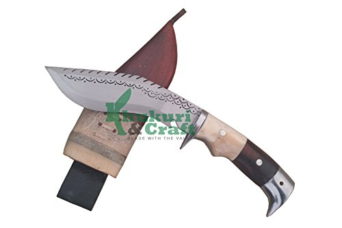 "6"" Blade Dragon American eagle bone and horn handle best kukri brown sheath working,military knives,handmade by Khukuri & Craft, Nepal"