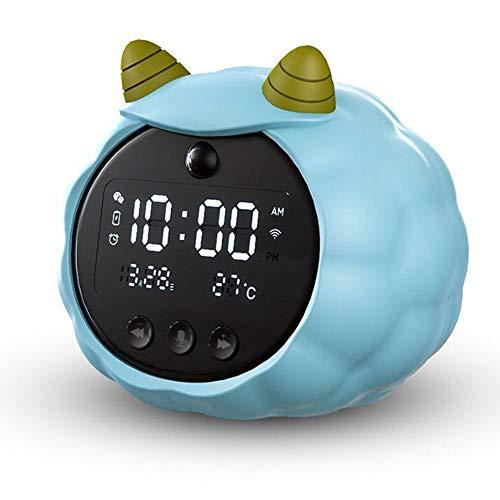 Reloj Despertador Digital, Led Pantalla Reloj Alarma Inteligente Con Temperatura, Puerto De Carga Usb, 12/24 Horas, Brillo Ajustable, Función Snooze,para Niños Adultos/A