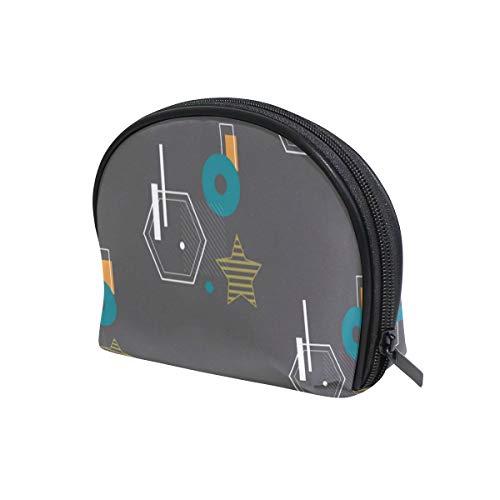 Kosmetiktasche mit geometrischem Bauhaus-Muster, Reisetasche, Make-up-Tasche mit Reißverschluss...