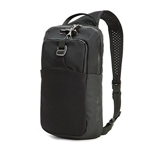 Pacsafe Venturesafe X Sling Pack Anti-Diebstahl Umhängetasche für Rechts- als auch Linkshänder geeignet, Diebstahlschutz - Sling Bag, Schwarz/Black