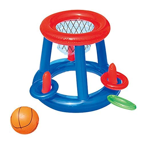 DJYD Inflable Juguetes for la Piscina Flotador for Adultos Infantes Fútbol Juegos de Baloncesto Voleibol Círculo Partido Colchón de Agua Natación Anillo (Color: Fútbol Color de Radom) FDWFN