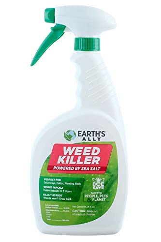 Earth's Ally Weed and Grass Killer Spray | 24 fl. oz. Ready-to-Use | Natural Non-Selective Herbicide | Environmentally Safe Weed Killer | Pet Safe | Bee Safe