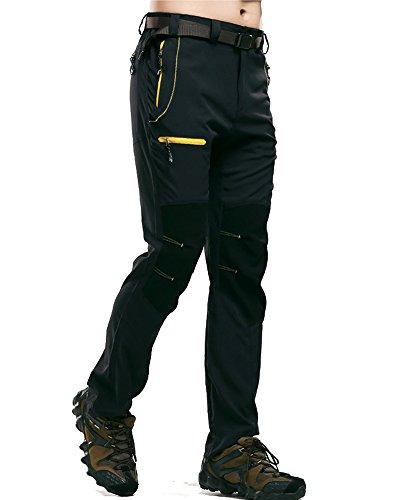 Tomwell Hommes Pantalon Cargo Montagne Vintage aéroportées Pantalon Cargo Armée Chino Ranger Pants Mens Chino Jeans B Noir EU Medium
