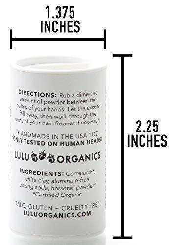 Lulu Organics UNSCENTED Hair Powder/Dry Shampoo - 1oz