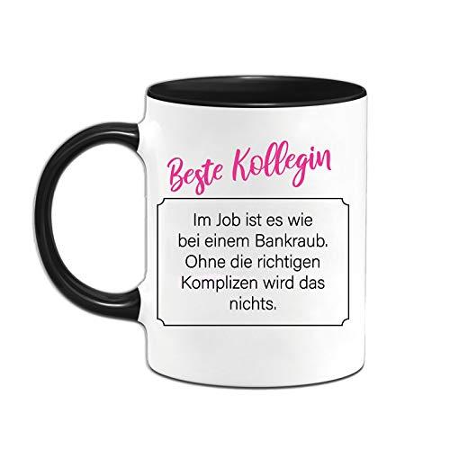 Yoner Lustige Tasse mit Spruch Beste Kollegin Geschenktasse für die Arbeitskollegin Kaffeetasse aus Porzellan beidseitig Bedruckt für die Arbeit