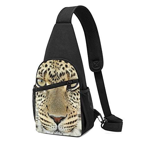 Cheetah Face Sling Mochila bandolera bandolera