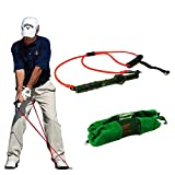 KIKIGOAL Golf Exerciser Resistance Bands Exercise Fitness or Pilates Workout Gym Sports Swing Cord