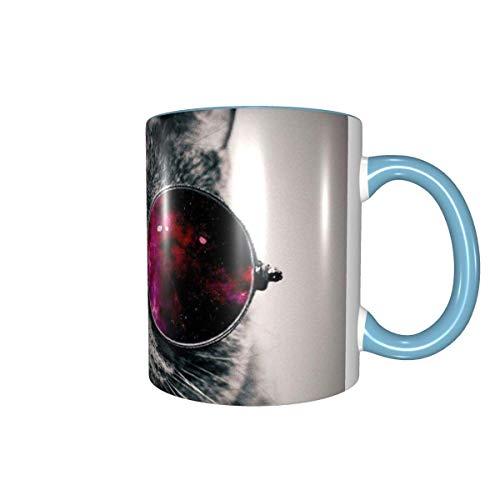 Kaffeetasse mit Katzenmotiv, 325 ml, Keramiktasse für Büro und Zuhause