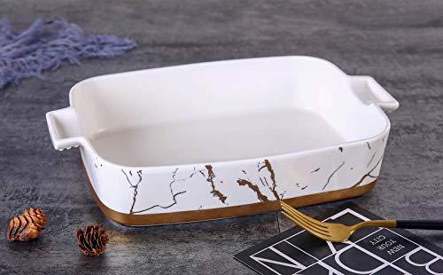 Zellerfeld Trendmax Servierschale Porselen Sunumluk ca 35x23cm Servierteller Schale Servierplatte mit Marmor Design aus Porzellan