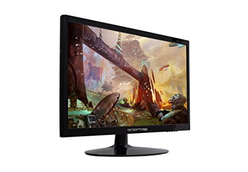 Sceptre 22 Inch 75Hz LED 1080p Full HD Monitor With HDMI VGA Ports, Build-in Speakers, Metal Black