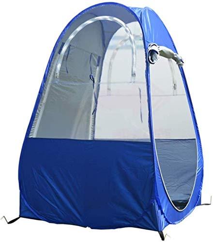 Ytrew Tienda de campaña emergente, portátil con dos ventanas y bolsa de transporte para acampar pescar, color azul