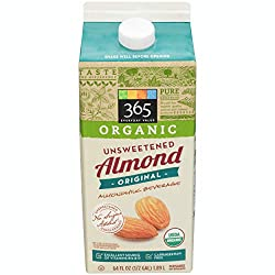 365 Everyday Value, Organic Almondmilk Unsweetened, 64 fl oz