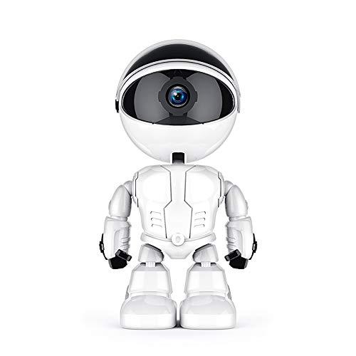 YJJ Kamera mit WiFi, 1080P HD WiFi IP-Kamera-Roboter Aussehen Kamera mit HD Nachtsicht/Zwei-Wege-Audio/Motion Detection Pan/Cloud Storage