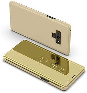 غطاء هاتف ذكي فاخر قابل للطي لسامسونج جالاكسي نوت 9 غطاء شفاف لهاتف سامسونج جالاكسي نوت 9 غطاء ذهبي