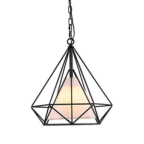 XCY Home - Colgante creativo moderno y creativo, tejido luminoso, tejido E27, geométrico, plafón con cabeza única geométrica, varios colores, 50 cm, 50 cm