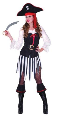 Déguisement adulte Femme Pirate Des Mers taille 14-16 (UK); Large (France)