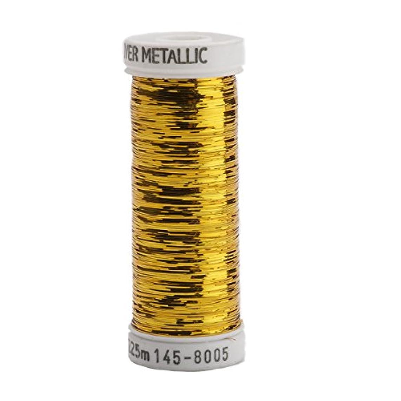 Sulky Of America 215d 40wt Sliver Metallic Nylon/Polyester Thread, 250 yd, Brass Gold