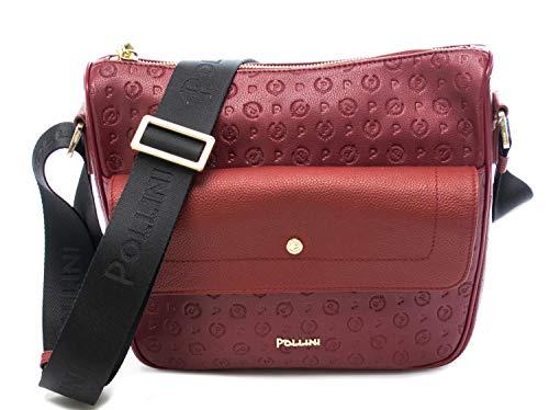 Pollini Handtasche für Damen, Heritage Embossed, Rot Einheitsgröße