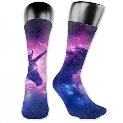 Nice-Guy Calcetines con estampado de unicornio Galaxy Calcetines coloridos unisex para adultos-LG