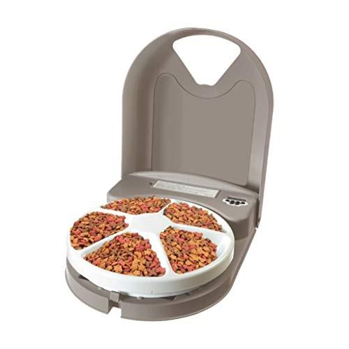 Automated feed dispensers Zeitgesteuerte Futternapf, hochwertige automatische Futterautomatik, anpassbare Futterstationen, rutschfeste Unterlage, für Hunde Katzen, Mahlzeiten ohne Stress (braun)