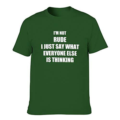 """Harberry Camiseta de algodón para hombre con texto en inglés """"I"""