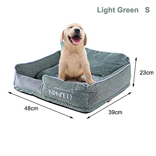 Seasons Shop Pet Bed for Cats and Small Medium Dogs Removable Rectangle Waterproof Machine Washable Ultra Soft Plush Pet Sleeping Bag