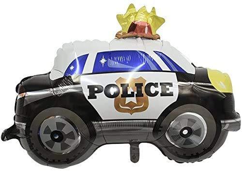 Set de globos de policía, relleno de helio, clip de sujeción y cinta, para cumpleaños infantiles o fiestas temáticas, diseño de unicornio