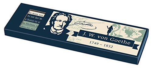 libri_x Bleistiftset Goethe | 6 Bleistifte mit Radierern | Härtegrad HB und 2B