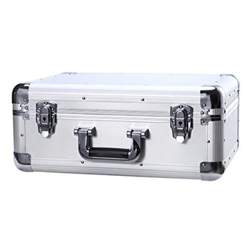 Armarios de almacenaje Rey De Espesor Capacidad De Marco De Aluminio Maletín De Almacenamiento Caja De Aluminio Documento Hogar (Color : Silver, Size : 46 * 36 * 19cm)