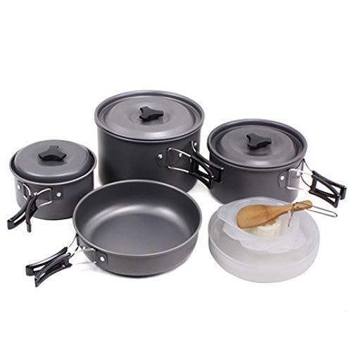 Sky God Juego de Utensilios de Cocina, Kit de Utensilios Cocina para Acampar para 1 a 5 Personas Juego Cocina Portátil…