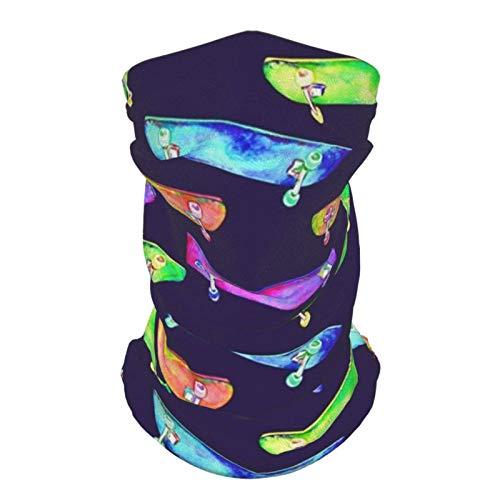 Braga para el cuello, bufanda para la boca, pañuelos, coloridos monopatines, acuarela, pasamontañas, bufanda 1 unidad