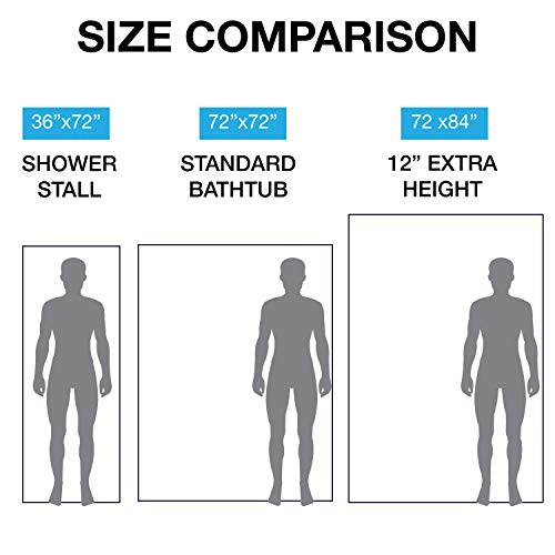 LiBa PEVA 8G Bathroom Small Shower Stall Curtain Liner, 36