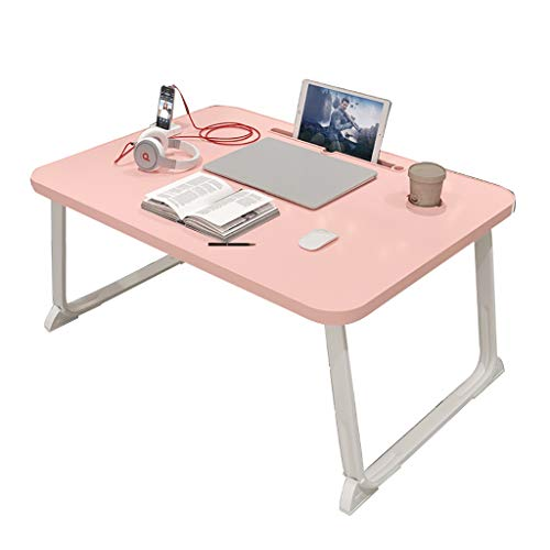 ZWJLIZI Folding Table, Japanese-style Sitting Pink Low Table, Home Portable Bed Computer Table/dining Table (Color : B, Size : 80X50X32CM)