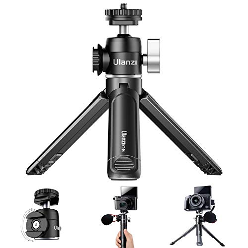ULANZI Mini Camera Tripod with 360° Ball Head & Cold Shoe, Extendable Tabletop Tripod for Camera iPhone Android Projector,Mini Tabletop Tripod for Vlogging,Travel,Zoom Meeting,Video Conferencing