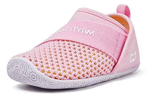 Baby Sneakers Girls Boys Mesh First Walkers Shoes 6 9 12 18 24 Months Pink Size 12-18 Months Infant