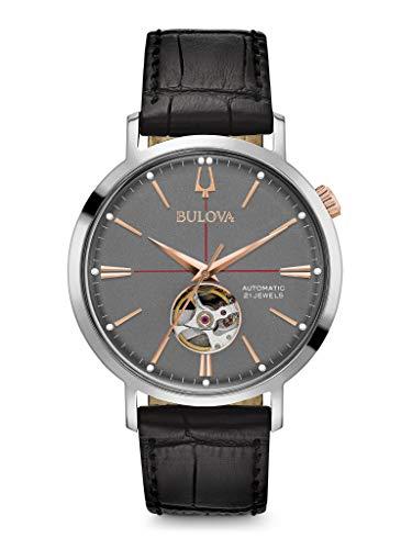 Bulova Reloj Analógico con Correa en Cuero 98A187