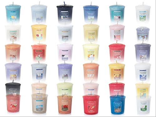 Yankee Candle Fresh Air Votives - Set of 10 Fresh Scent Samplers Votive Candles: Storm Watch, November Rain, Midsummer's Night, April Showers, Catching Rays, Windblown, Sunrise & More