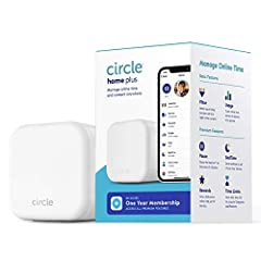 COVERS EVERY DEVICE - Limit screen time and block online content for mobile phones, computers, tablets, gaming consoles, smart TVs, and more. APP  + DEVICE SOLUTION - Download the Circle App and connect the Circle Home Plus device to your router to s...