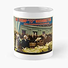 Mr Trump Goes To Washington Classic Mug - The Funny Coffee Mugs For Halloween, Holiday, Christmas Party Decoration 11 Ounce White Cettire.