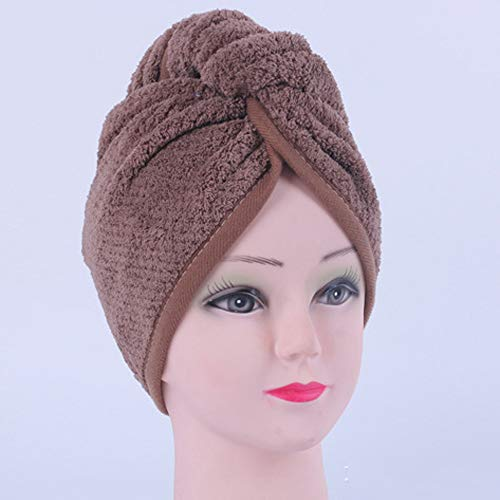 KAEHA SUN-038-20 super absorberend coral fluweel ananas hoed van zeer fijne vezel badhanddoek dames sneldrogend bruin
