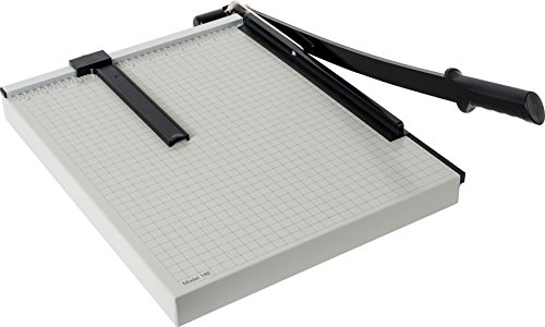 Dahle 18e Vantage Paper Trimmer, 18' Cut Length, 15 Sheet, Automatic Clamp, Adjustable Guide, Metal Base with 1/2' Gridlines, Guillotine Paper Cutter