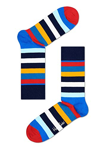 Happy Socks Unisex, STRIPE Socken, Mehrfarbig (Multi Blau 605), 36-40