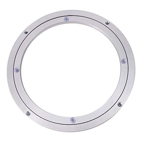 Gorgeri Soporte giratorio para trabajo pesado de aleación de aluminio de la placa giratoria giratoria Teniendo Mesa de comedor redonda lisa de la placa giratoria(10Inch*H8.5MM)