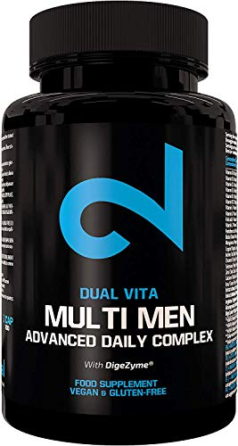 DUAL VITA Multi Men | Combinación De Vitaminas, Minerales y Plantas | Hombres Activos |60 Cápsulas Veganas | Suplemento Dietético 100% Natural | Certificado | Sin Aditivos | Fabricado En La UE