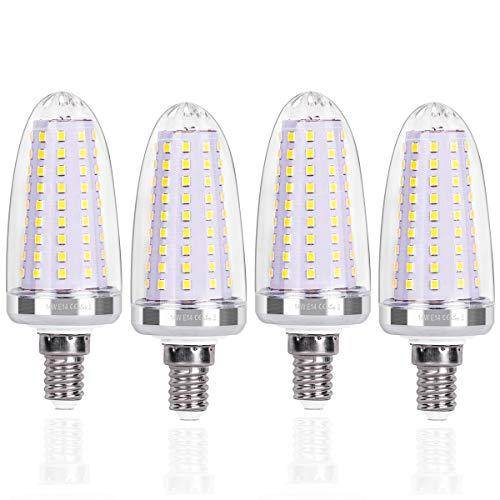 SanGlory 4 Pezzi Lampadine E14 LED a Candela, 14W Equivalenti a 120 W, Lampadina a Candelabro Bianco Freddo 6000K, Lampade LED E14 Non Dimmerabile (E14 Luce Fredda)
