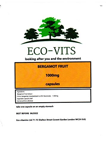 Bergamot Fruit (1000mg) 30 Capsules