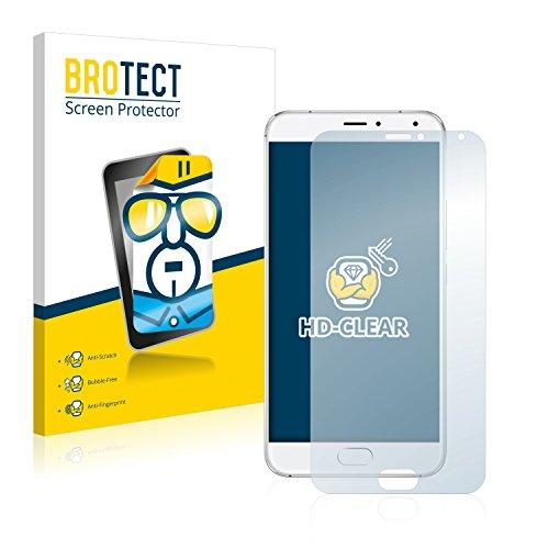 BROTECT Schutzfolie kompatibel mit Meizu Pro 5 (2 Stück) klare Bildschirmschutz-Folie