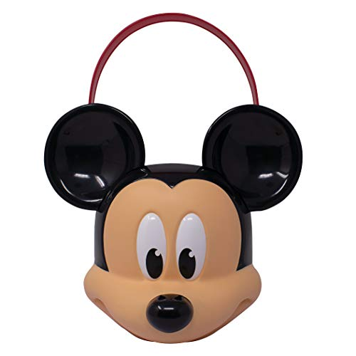 Mickey Mouse Disney Character Bucket – Children's Halloween Trick or Treat Candy and Storage Pail, Multi (MM00599)
